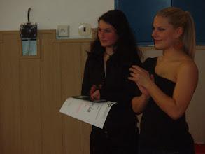 Photo: Školní kolo recitační soutěže - Karolína a Johanka.