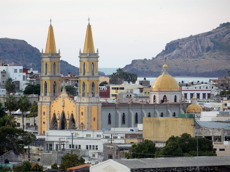 The Cathedral of the Immaculate Conception, an unmistakable fixture in the Mazatlan skyline, as seen from Ruby Princess.