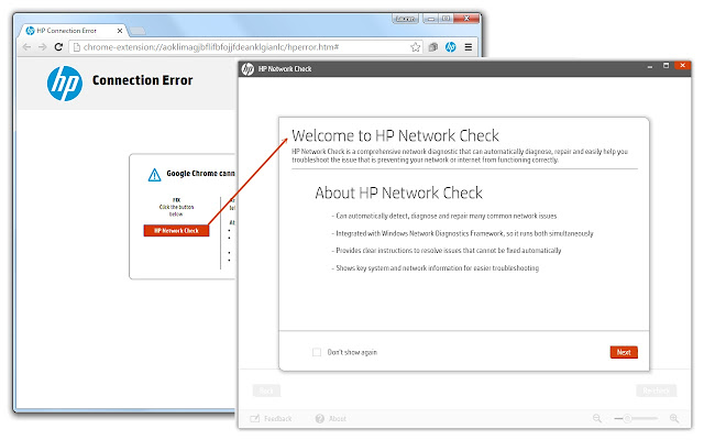 HP Network Check Launcher