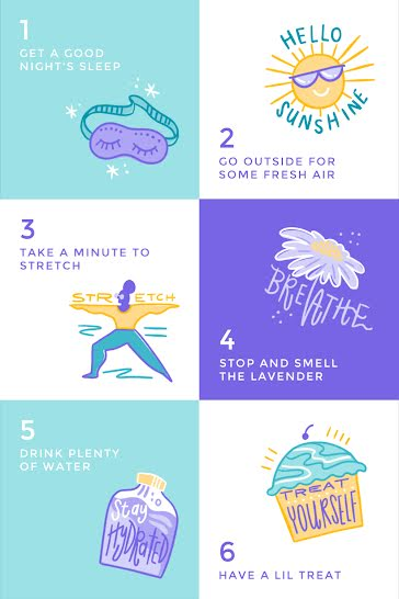 Six Steps for Self Care - Pinterest Pin Template
