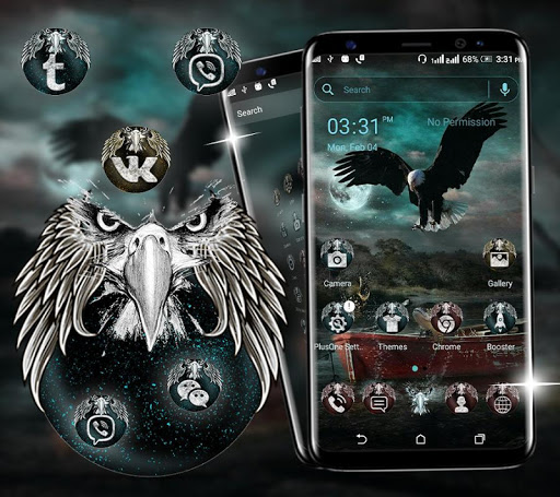 Fantasy Eagle Launcher Theme ss3