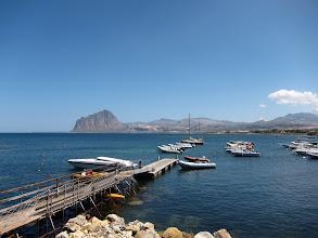 Photo: Monte Cofano visto da Marina di Cofano