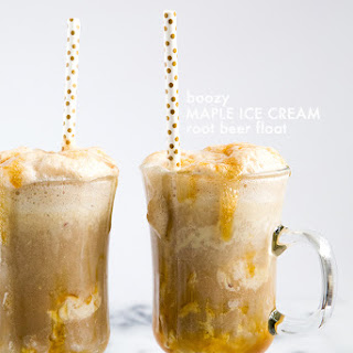 Boozy Maple Ice Cream Root Beer Float