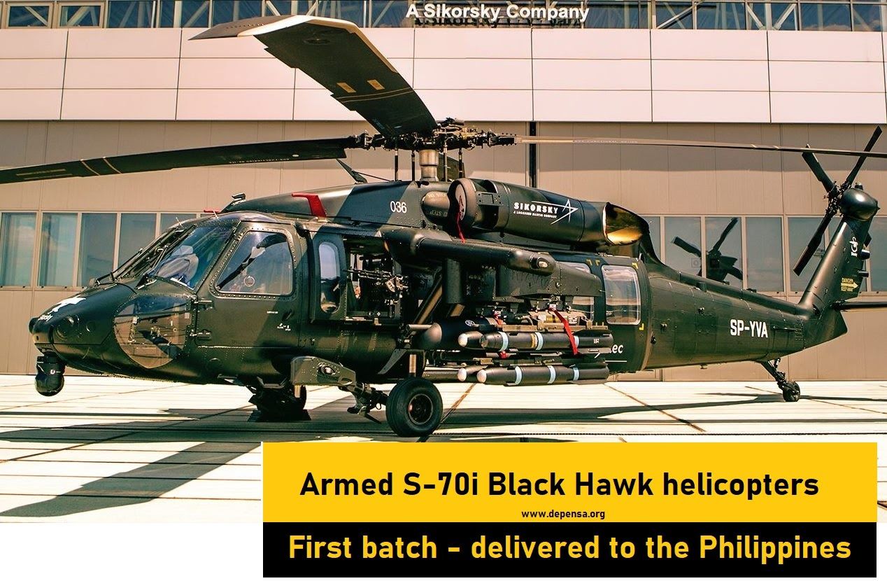 First 5 of Armed of 16 Sikorsky S-70i Black Hawk Delivered to the Philippines