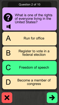 US Citizenship Test 2017 Audio - screenshot