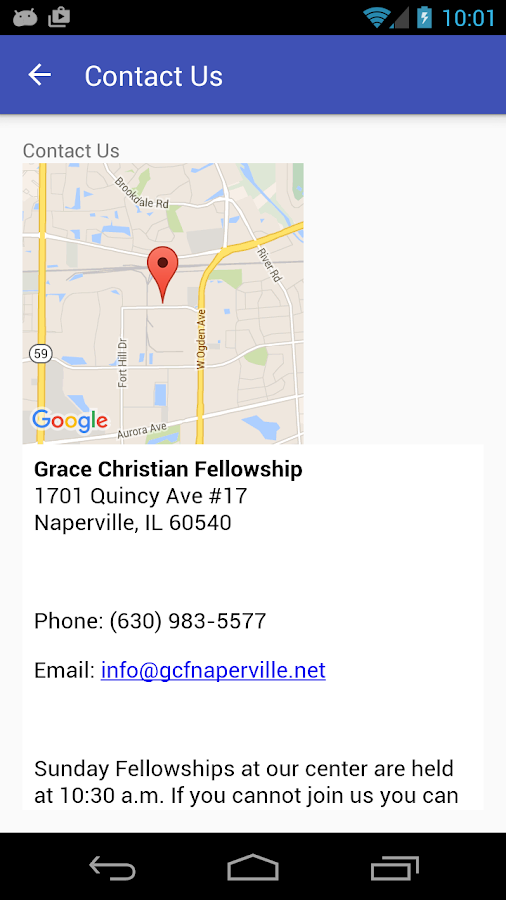 Grace Christian Fellowship- screenshot