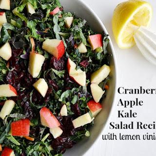 Cranberry Apple Kale Salad with Lemon Vinaigrette.