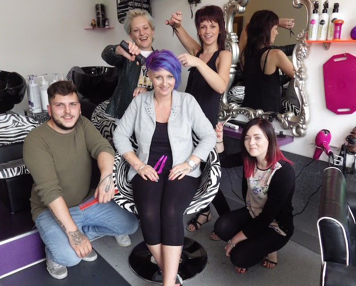 Charity head shave event in town