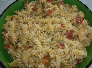 Chicken Fusilli with Spinach and Artichokes
