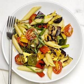 Penne with Mixed Grilled Vegetables.