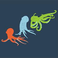 Photo: octopus study in Adobe Illustrator