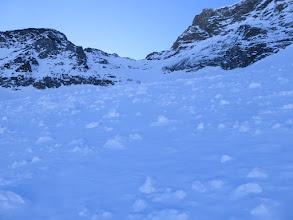 Photo: Avalanche debris in the Glacier Pers