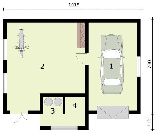 G310 - Rzut garażu