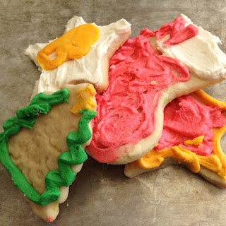 Cut Out Sugar Cookies With Buttercream Frosting