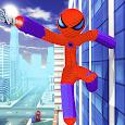Captain Spider US Super Stickman Rope Hero