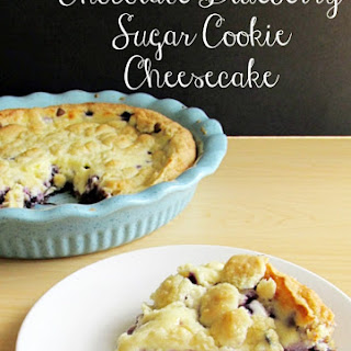 Wild Blueberry and Chocolate Sugar Cookie Cheesecake