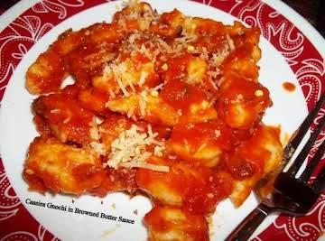 Gnocchi W/ Browned Onion Butter Sauce - Aunts
