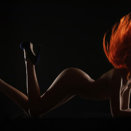 Flaming Red by Gary Bradshaw - Nudes & Boudoir Artistic Nude