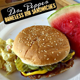 Dr Pepper Boneless Pulled Pork Rib Sandwiches