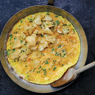 Potato Chip Omelet With Chives.