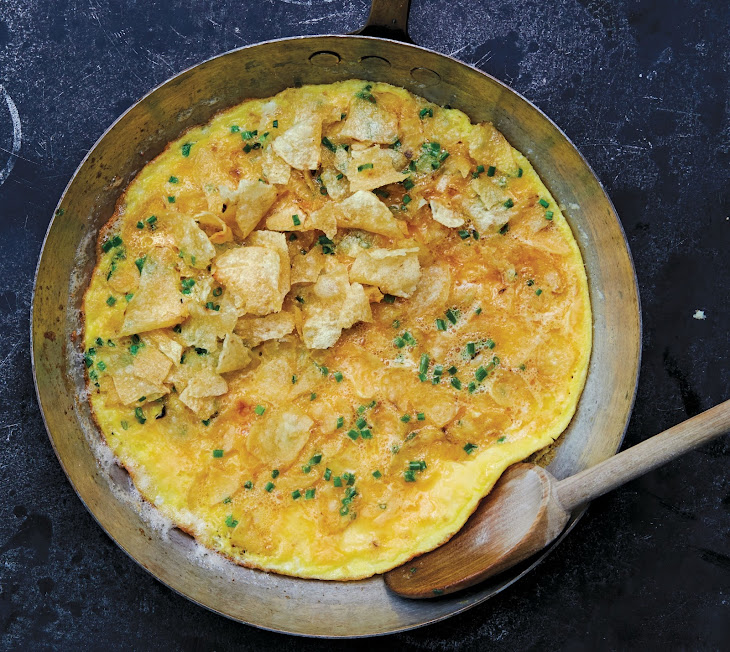 Potato Chip Omelet With Chives