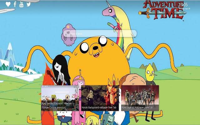 Adventure Time New Tab Wallpaper Background