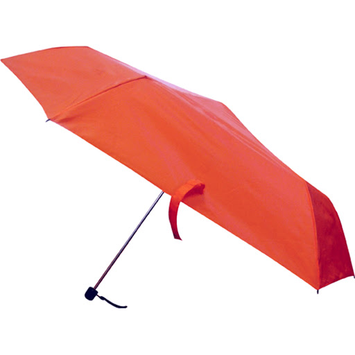 Mini Folding Umbrella Red