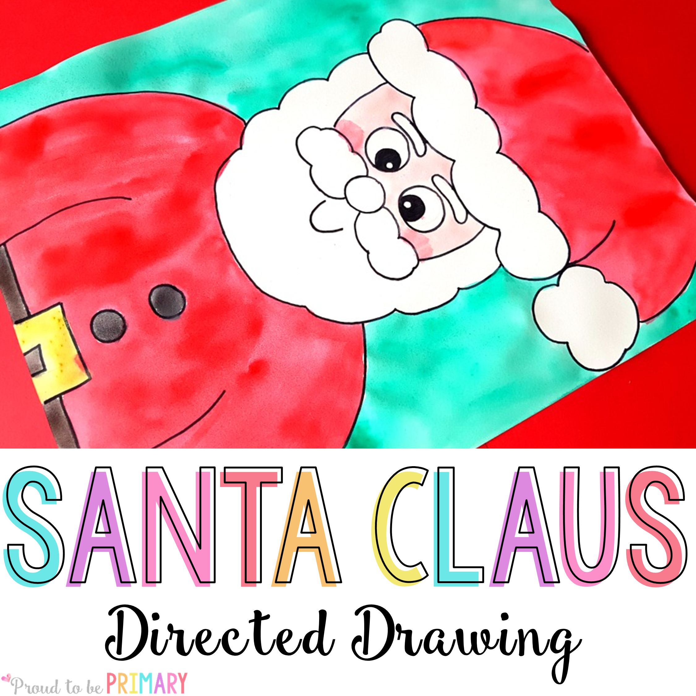 directed drawing resources - Santa Claus Santa