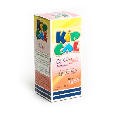 Kidcal Tutti Frutti Suspensión x 180 ml Producto de Laboratorios Farma. Alimento a base de calcio, vitamina D3 y zinc.