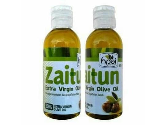 Minyak Zaitun EVOO HPAI Extra virgin olive oil HPAI herbal HNI murni asli berkualitas grade A kolesterol