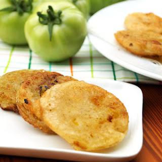 Paleo Fried Green Tomatoes (tempura style).