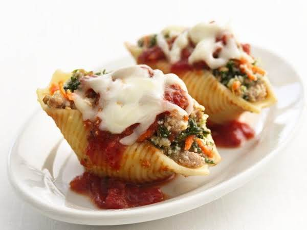 Healthified Sausage Stuffed Shells