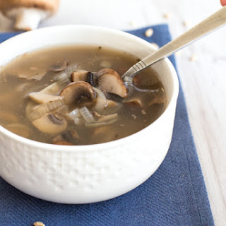Low Calorie Barley And Mushroom Soup.