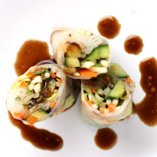 Fresh Spring Rolls with Apricot Dipping Sauce