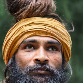 mens in wood by Mukesh Kumar - People Portraits of Men
