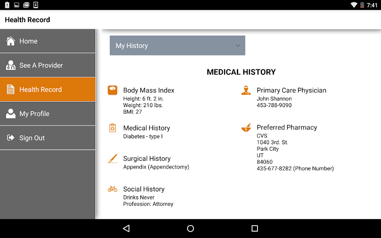 android STAT-MD eClinic Screenshot 8
