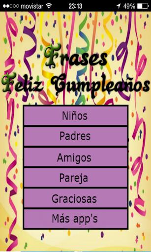 Frases de Cumpleaños
