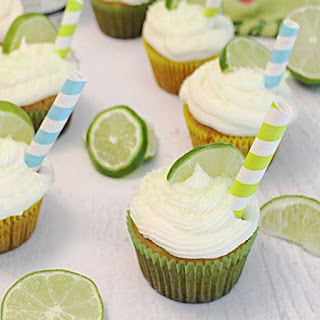 Easy Tequila Lime Cupcakes with Margarita Frosting.