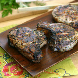 Herb Marinated Grilled Pork Chops.