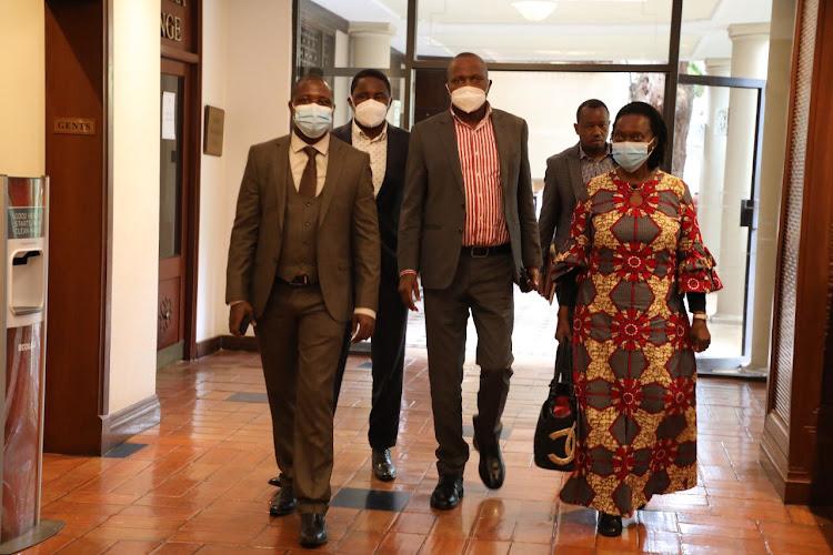 Martha Karua, Moses Kuria and Mwangi Kiunjuri among others arrive for a Mt Kenya leaders meeting on September 13, 2021.