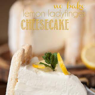 No Bake Lemon Ladyfinger Cheesecake.