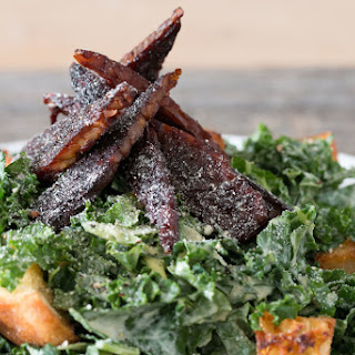 Vegan Kale Caesar Salad With Tempeh Bacon →