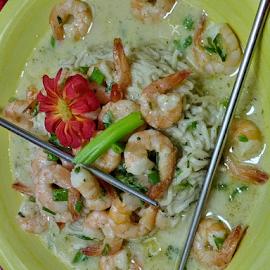 Ramen Skrimp Scampi by Carlo McCoy - Food & Drink Plated Food ( ramen, quick recipes, noodles, shrimp, creative foods, poor folks,  )