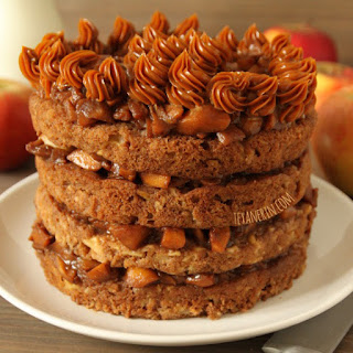 100% Whole Grain Apple Blondie Cake.