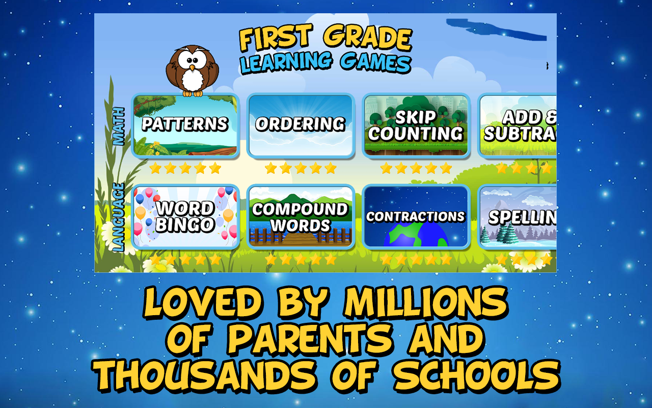 First Grade Learning Games- screenshot
