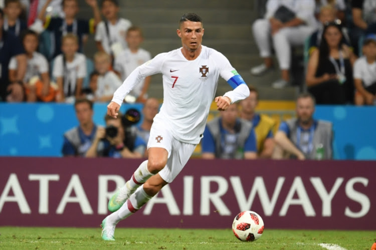Cristiano Ronaldo of Portugal in action during the 2018 FIFA World Cup Russia Round of 16 match between Uruguay and Portugal at Fisht Stadium on June 30, 2018 in Sochi, Russia.