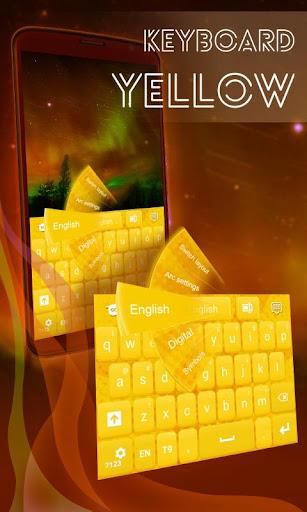 フリー黄色キーボード