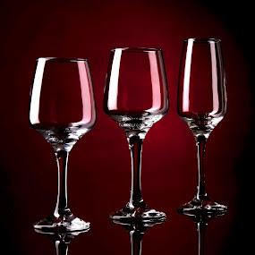Wine glasses by Genesis Carabeo - Artistic Objects Glass ( wine, stemware, glass )