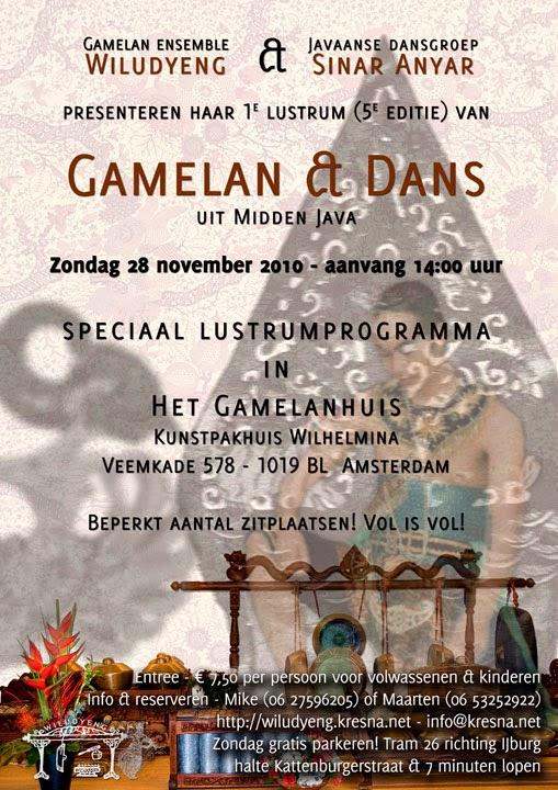 5e Editie Concert Gamelan en Dans in het Gamelanhuis