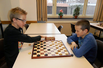 Photo: Jeugd Paasdamtoernooi 2014. Barrage Martijn Vis - Rick de Wolf